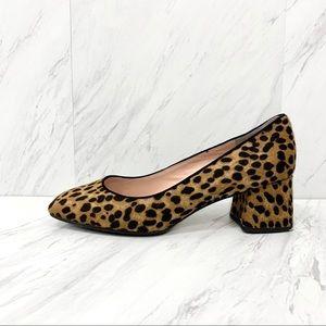 J. Crew- Square Toe Block Heels in Leopard Size 12